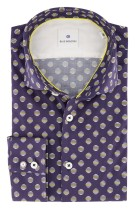 Blue Industry Overhemd Donkerblauw Print Slim fit