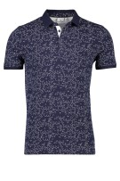 Blue Industry polo bloemenprint stretch navy