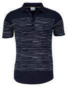 Blue Industry polo donkerblauw gestreept