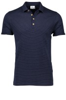 Blue Industry polo donkerblauw streep