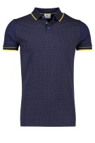 Blue Industry Polo Shirt Donkerblauw Print Normale fit