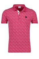 Blue Industry Polo Shirt Roze Print Slanke fit