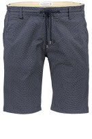 Blue Industry Short Donkerblauw Print Slim fit