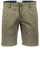 Blue Industry Short Groen Effen Slim fit
