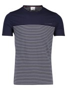 Blue Industry t-shirt ronde hals streepje navy wit