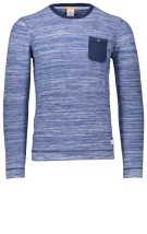 Blue Industry Trui Blauw Gemêleerd Slim fit