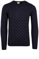 Blue Industry Trui Donkerblauw Print Slim fit
