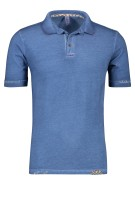 Bob Polo Shirt Blauw Effen Slanke fit