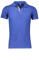 Bob Polo Shirt Blauw Effen Slim fit