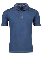 Bob Polo Shirt Donkerblauw Effen Slim fit