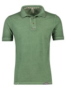 Bob Polo Shirt Groen Effen Slim fit