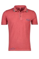 Bob Polo Shirt Rood Effen Slanke fit