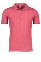 Bob Polo Shirt Roze Effen Slim fit