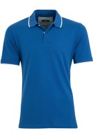 Brax Polo Shirt Blauw Effen Normale fit