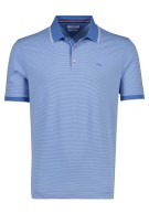Brax Polo Shirt Blauw Gestreept Normale fit
