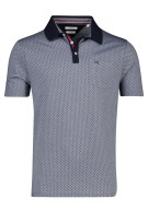 Brax Polo Shirt Donkerblauw Print Normale fit