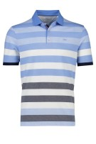 Brax Polo Shirt Donkerblauw Wit Blauw Gestreept Normale fit