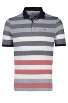 Brax Polo Shirt Rood Donkerblauw Gestreept Print Normale fit