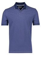 Bugatti Polo Shirt Donkerblauw Print Normale fit