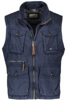 Camel Active Bodywarmer Donkerblauw Effen Normale fit