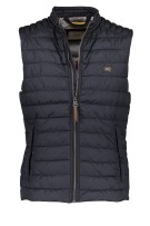 Camel Active Bodywarmer Donkerblauw Effen Structuur Normale fit