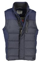 Camel Active Bodywarmer Donkerblauw Structuur Normale fit