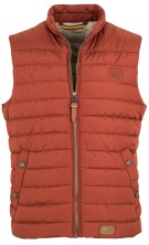 Camel Active Bodywarmer Rood Oranje Effen Normale fit