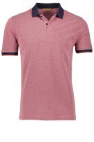 Camel Active Polo Shirt Rood Effen Wijde fit