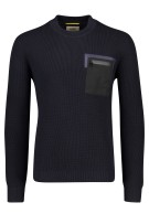 Camel Active Trui Donkerblauw Effen Structuur Normale fit