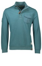 Camel Active Trui Turquoise Effen Normale fit