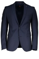 Carl Gross Kostuum Donkerblauw Effen Slim fit