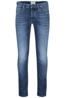 Cast Iron 5-Pocket Broek Blauw Effen Slanke fit
