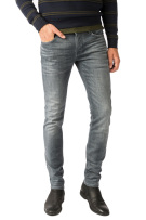 Cast Iron 5-Pocket Broek Grijs Effen Slim fit