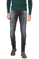 Cast Iron 5-Pocket Broek Zwart Effen Slim fit