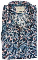 Cast Iron casual shirt donkerblauw  print