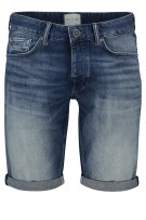 Cast Iron denim shorts 5-pocket faded blauw