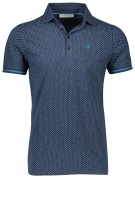 Cast Iron Polo Shirt Donkerblauw Print Slim fit