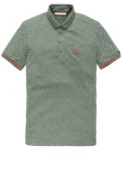 Cast Iron Polo Shirt Groen Print Slim fit