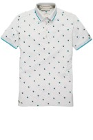 Cast Iron Polo Shirt Turquoise Print Slim fit