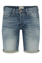 Cast Iron Short Blauw Effen Normale fit