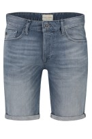 Cast Iron Short Grijs Blauw Effen Normale fit