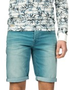 Cast Iron Short Groen Blauw Effen Slim fit