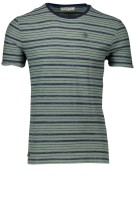 Cast Iron T-shirt Groen Gestreept Slim fit