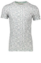 Cast Iron T-shirt Groen Print Slim fit