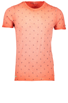 Cast Iron T-shirt Oranje Print Slim fit