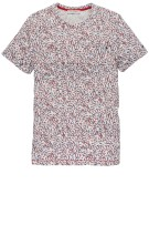 Cast Iron T-shirt Rood Print Slim fit