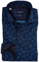 Cavallaro hemd Bosco navy blad print two ply