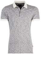Cavallaro Polo Shirt Grijs Print Slim fit