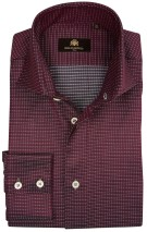 Circle of Gentlemen Overhemd Bordeaux Print Slim fit