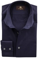Circle of Gentlemen Overhemd Donkerblauw Effen Slim fit